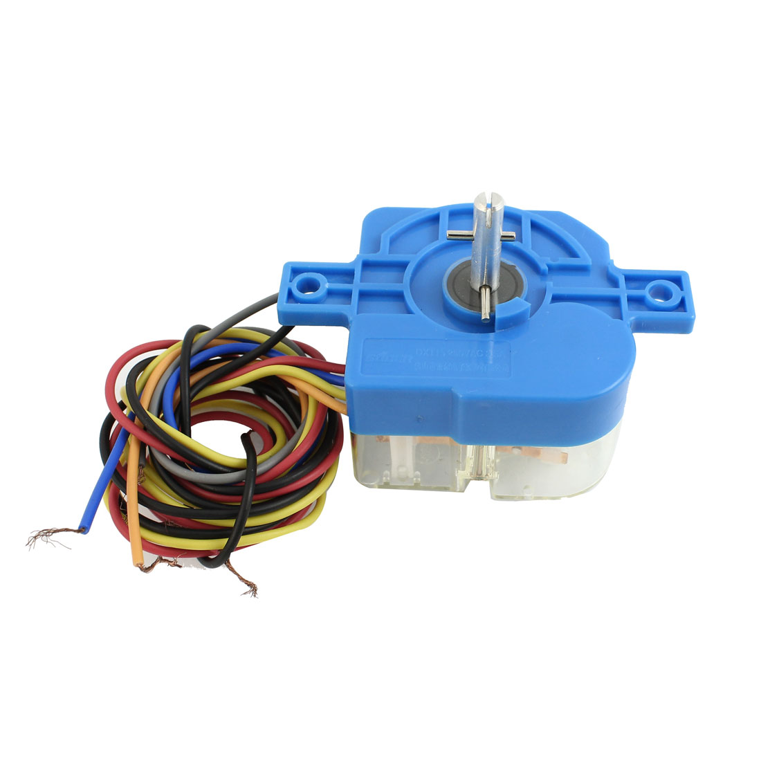 DXT15 AC 250V 3.5A 6 Wires 180 Degree Rotary Shaft Washing Machine Washer Timer Blue Clear