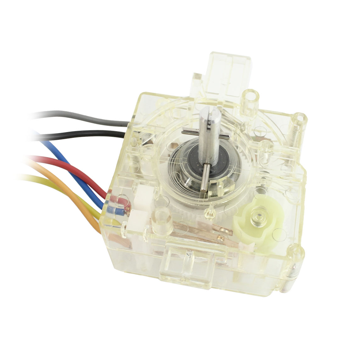 Replacement Washing Machine 6 Wire Timer Controller Clear Yellow AC 250V 3.5A