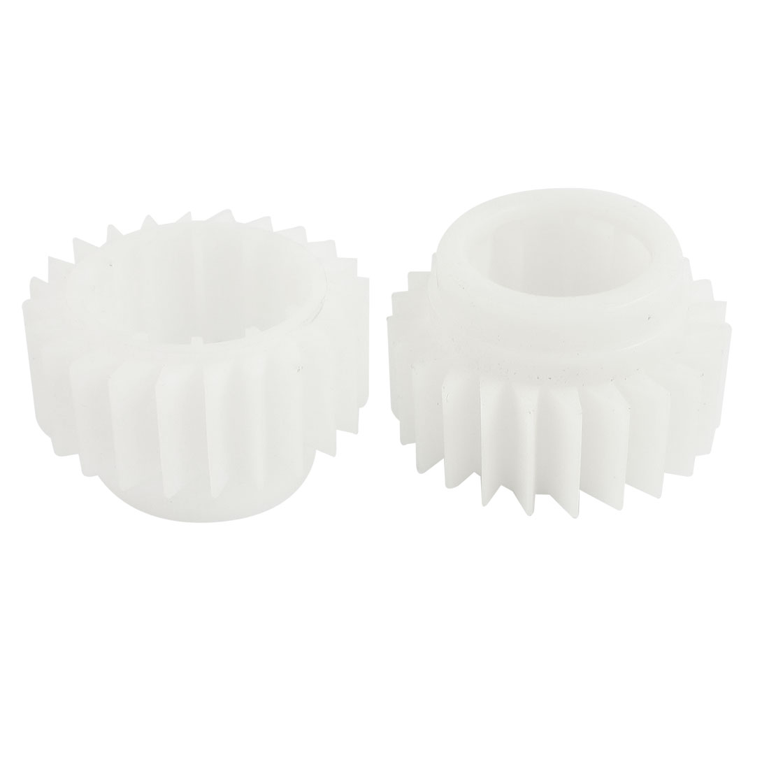 2 Pcs 18mm Width 24 Teeth Plastic Ratchet Wheel White for LG Washing Machine Washer