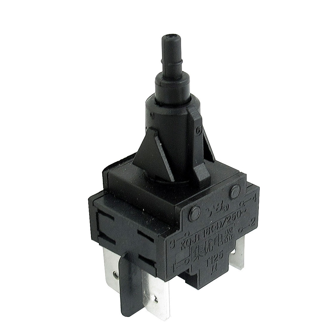 Replacement AC 250V 4A 4 Pin DPST Momentary Power Switch for Washer Washing
