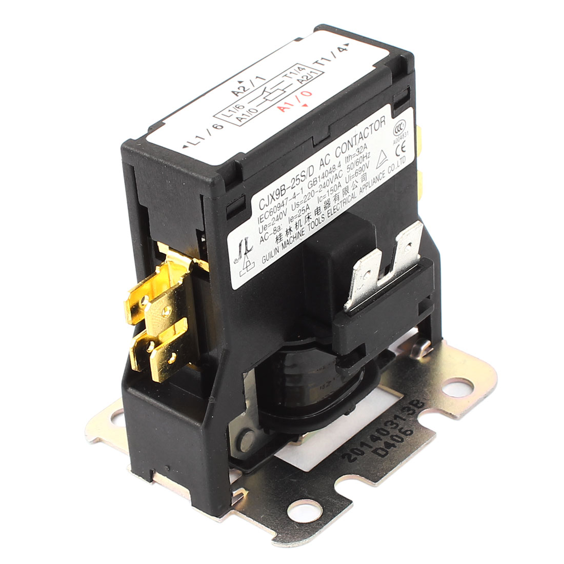 CJX9B-25S/D AC 220-240V Single Phase Air Conditioner Coil Magnetic Contactor