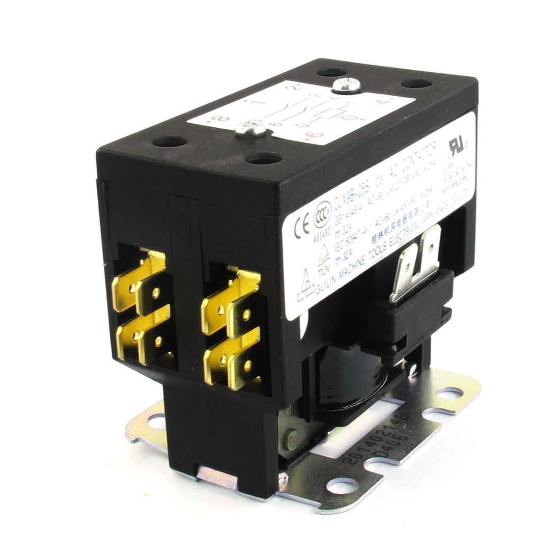 CJX9B-25S AC240V Rated Coil Voltage 32A 2 Poles 2NO Air Conditioner AC Contactor