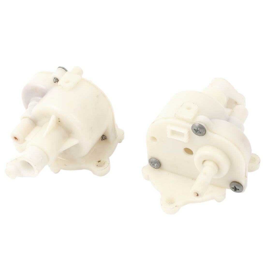 2 Pcs Off White Electric Wall Fan Repair Parts 5mm Mounted Hole Gear Box for Midea