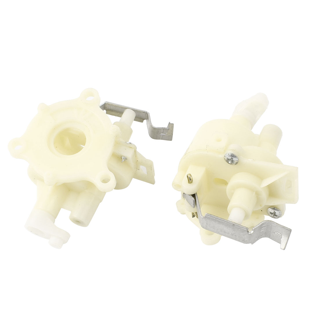 2Pcs Off White Electric Wall Fan Repair Parts 5.5mm Mounted Hole Gear Box for Midea