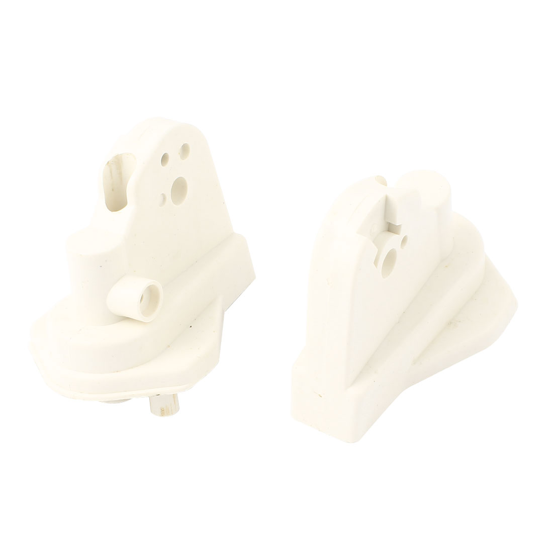 2Pcs White Plastic Electric Fan Elbow Connectors Replacement 80mm x 55mm x 60mm