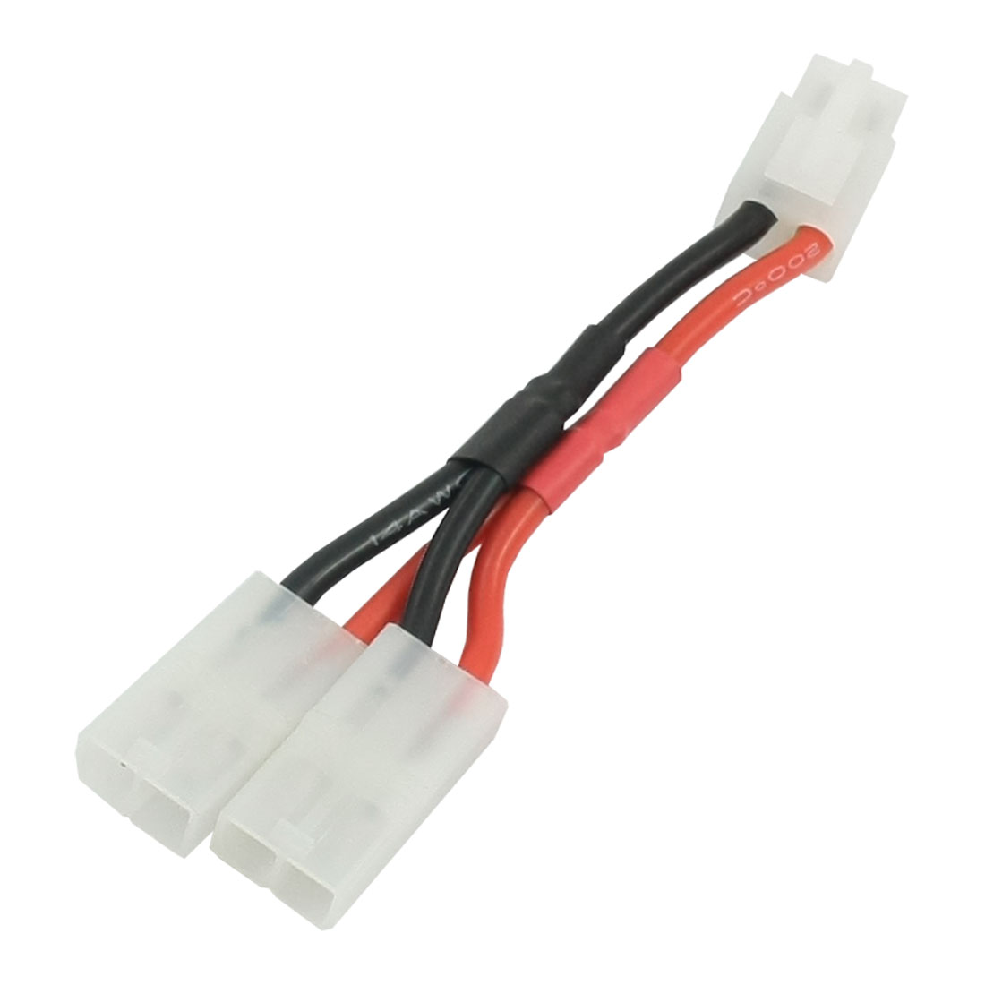 2 in 1 2-Way 1 Male + 2 Female Series Connector Adapter Wire for RC Lipo Battery