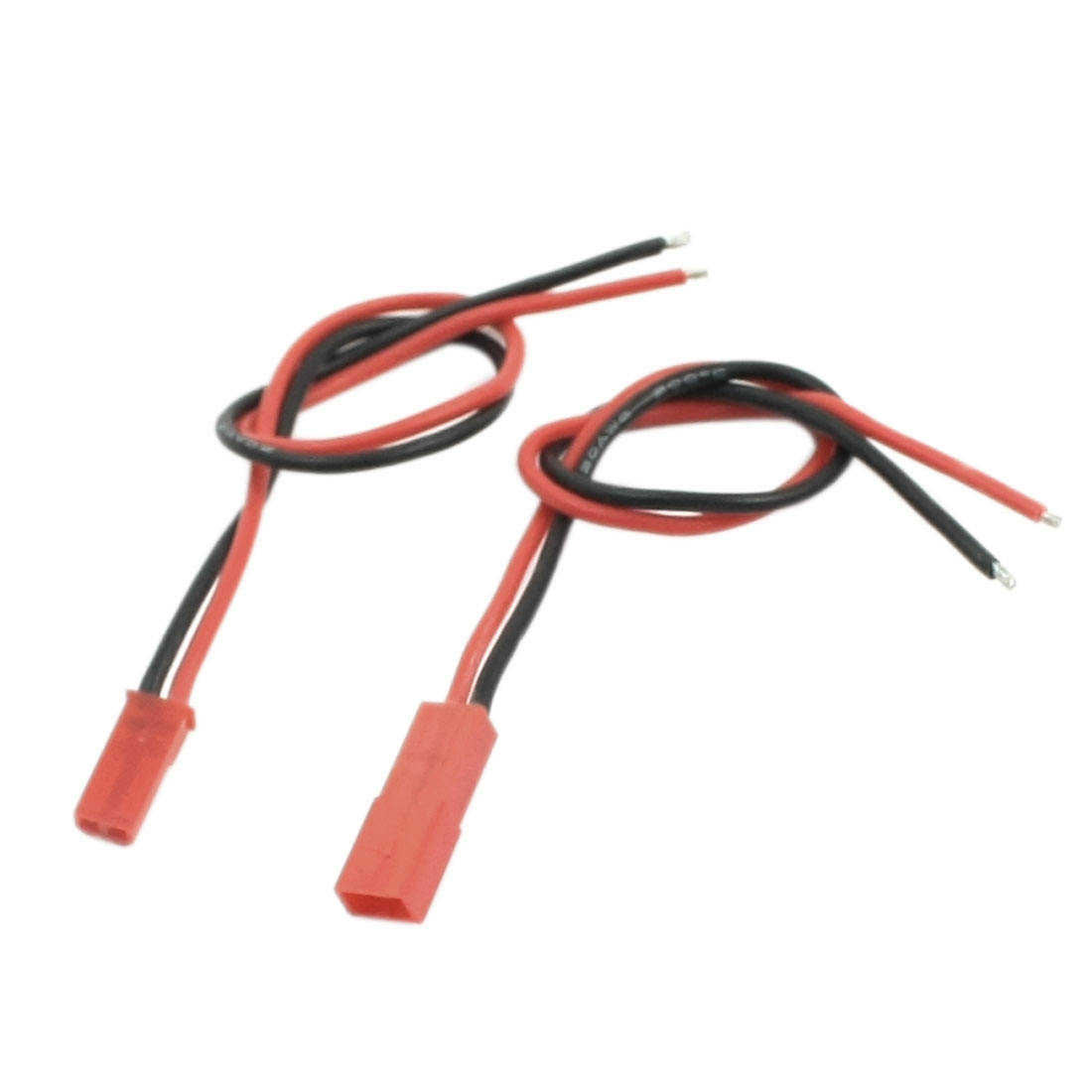 Pair 34cm Length 2Pin Male to Female JST Connector Adapter Lead Wire for DIY RC Li-Po Battery