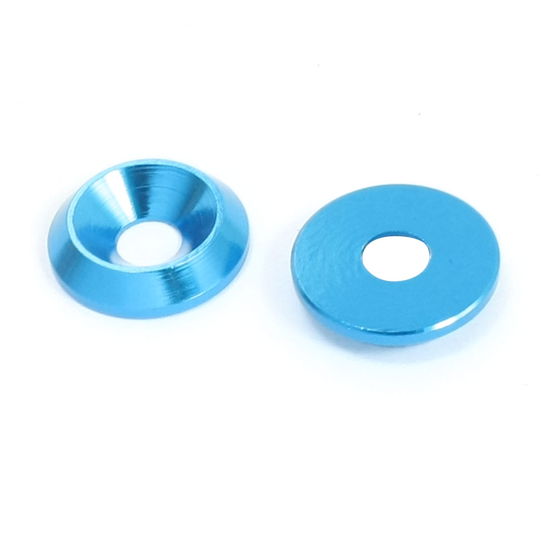 2 Pcs Replacement Blue Aluminium Alloy RC Spacer Washer 5mm x 16mm x 3.5mm