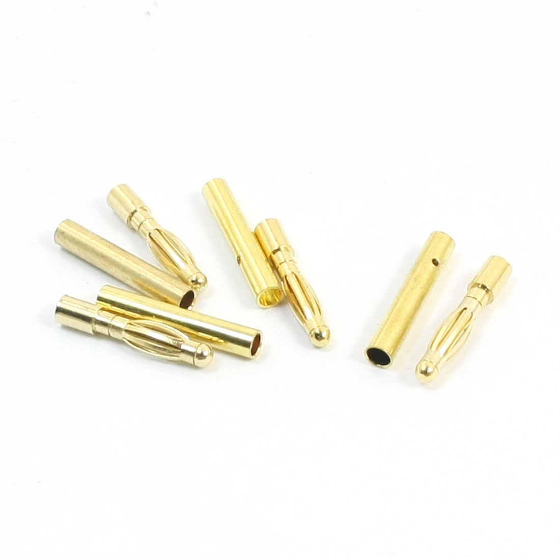 4 Pairs Gold Tone Metal 2mm Banana Connector Adapter for RC LiPo Battery ESC Brushless Motor