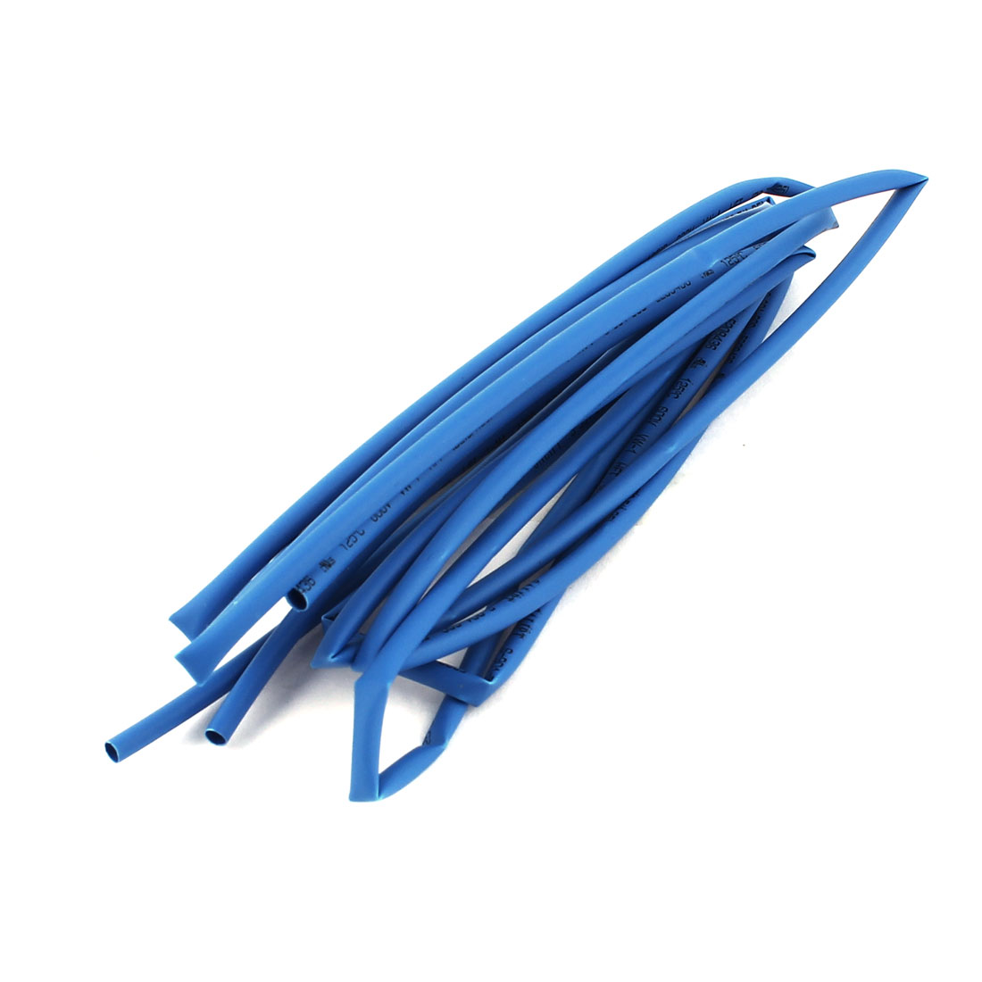 2Pcs 600V 125C Dia Ratio 2/1 2.5mm 1.25mm Blue Insulated Heat Shrinkable Tube Pipe 1m for RC Model