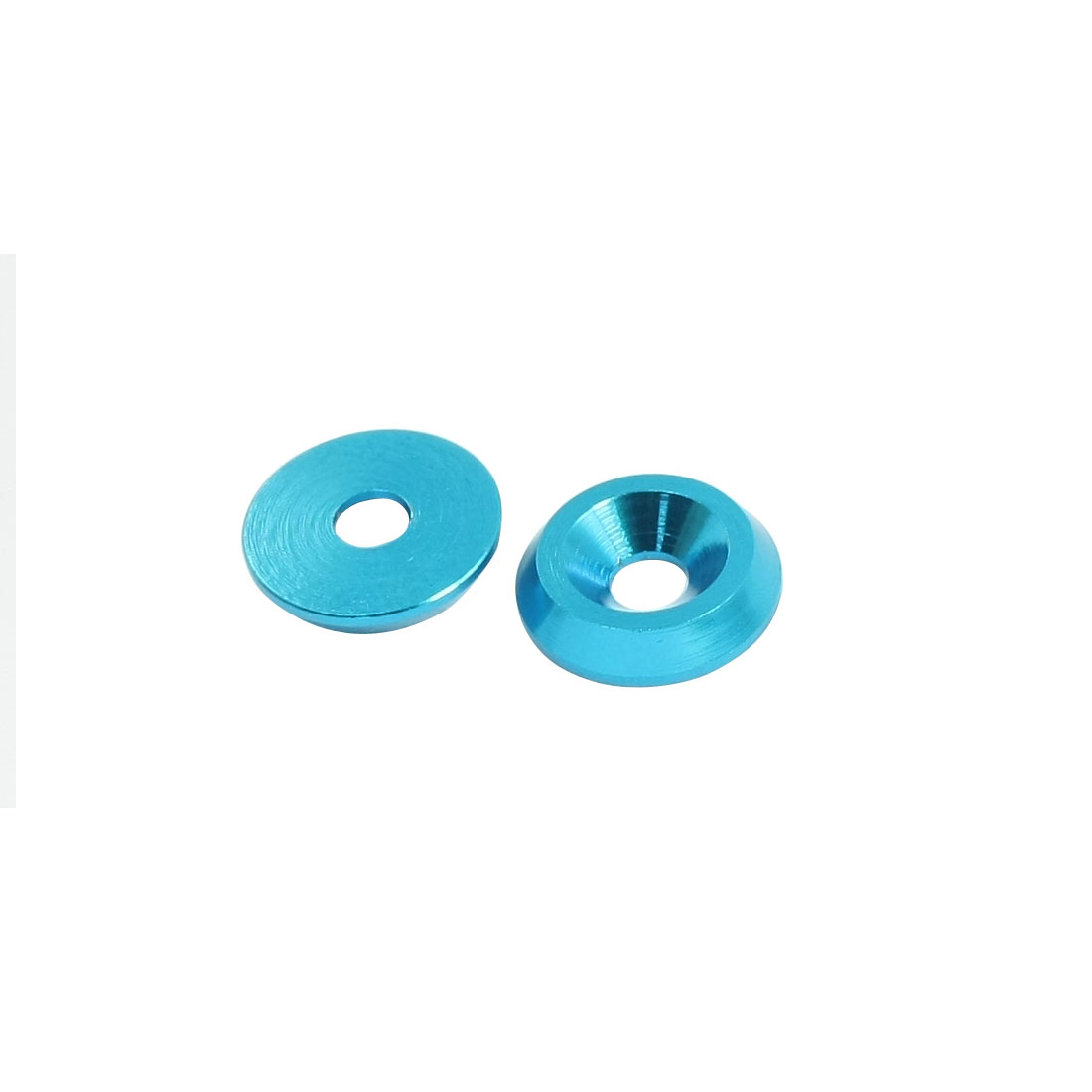 2 Pcs Blue Aluminium Alloy Wheel Spacer Washer Adaptor for 4mm Dia Shaft RC Model