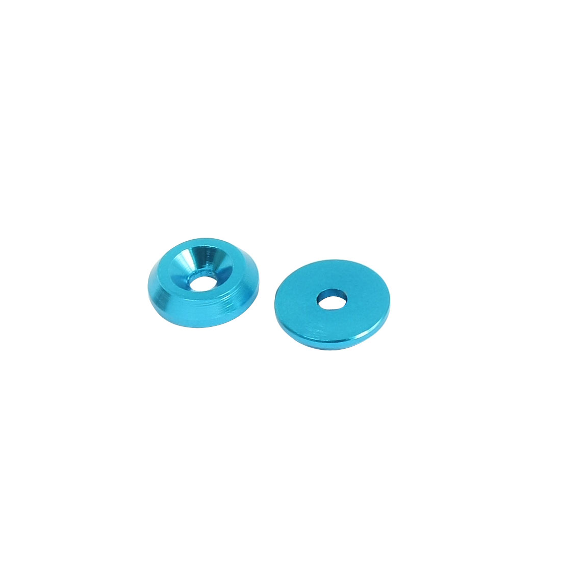 2 Pcs 3mm Outer Dia Blue Aluminium Alloy Spacer Washer Adaptor Replacement for 3mm Shaft RC Model