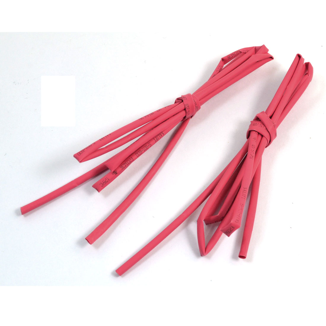 2 Pcs 600V 125C Dia Ratio 2/1 2.5mm Red Insulated Heat Shrink Tube Shrinkable Hose 1m 3.3ft