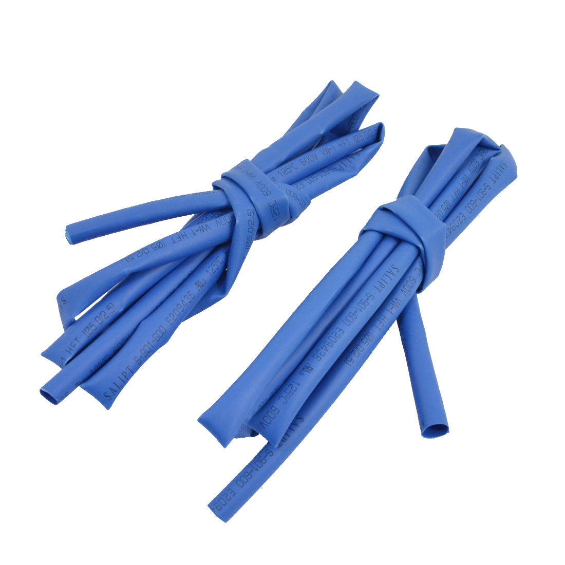 RC Model Part Dia Ratio 2/1 Blue Insulated Heat Shrink Tube Shrinkable Pipe 5mm 1m 3.3ft 2 Pcs