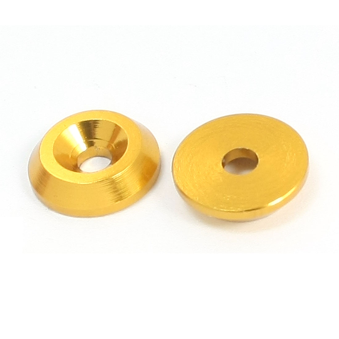 2Pcs 12mm Outer Dia Gold Tone Aluminium Alloy for 3mm Shaft RC Spacer