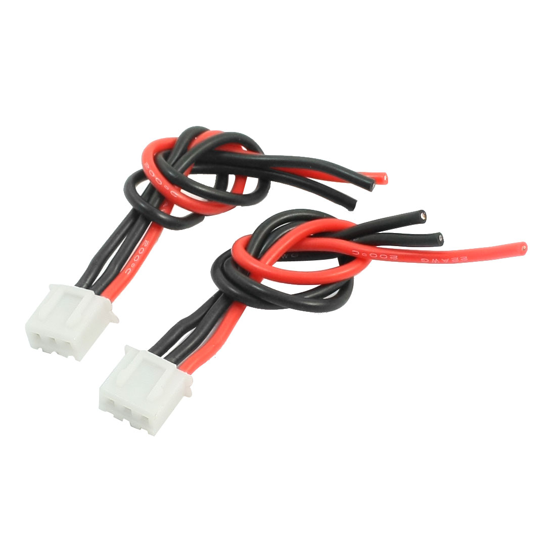 "2 Pcs 4.5"" Length JST-XH 3Pin JST-XH Balance Charger Adapter Extension Lead Wire 22AWG for RC 2S Lipo Battery"