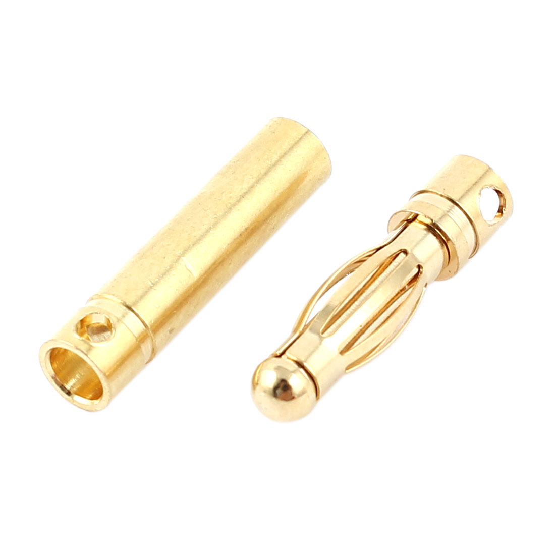 Replacement RC Brushless Motor Modle Battery Gold Plated Male/Female Banana Connector Adapter 4mm Dia Pair