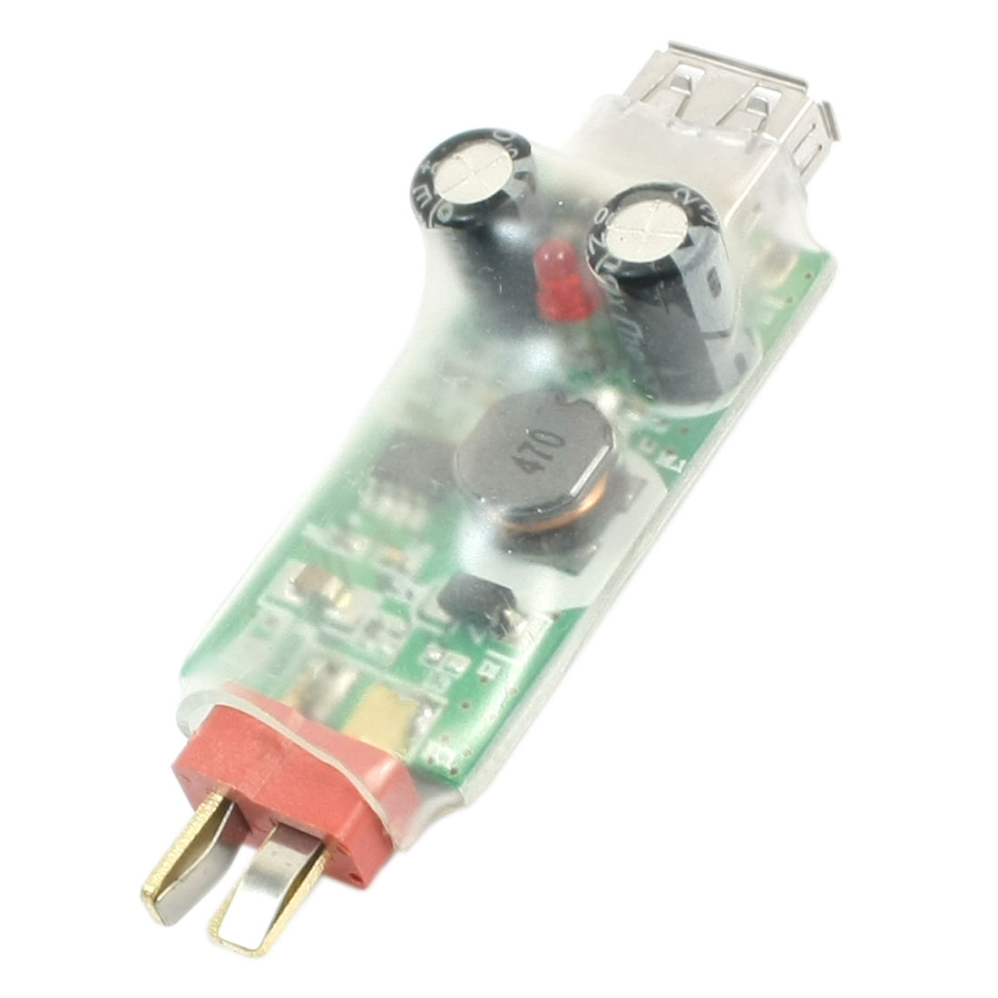7.4-22.2V Input 5V Output Male to USB 2.0 Male RC Model Lipo Battery Conversion Charger Module