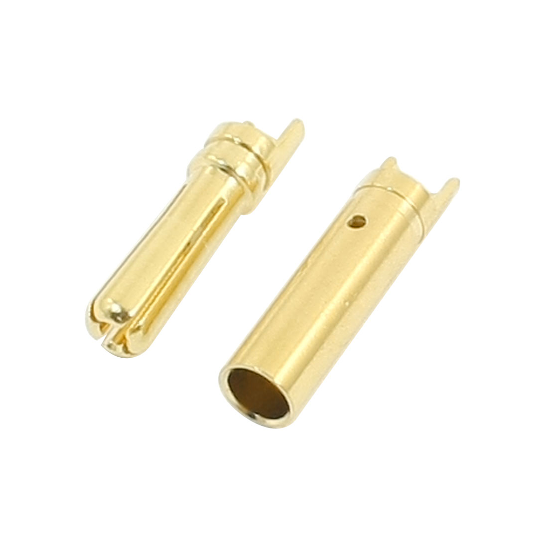 RC Model Brushless Motor Li-Po Battery Part Gold Tone Metal Male Female Banana Plug Connector Adapter 4mm Dia Pair