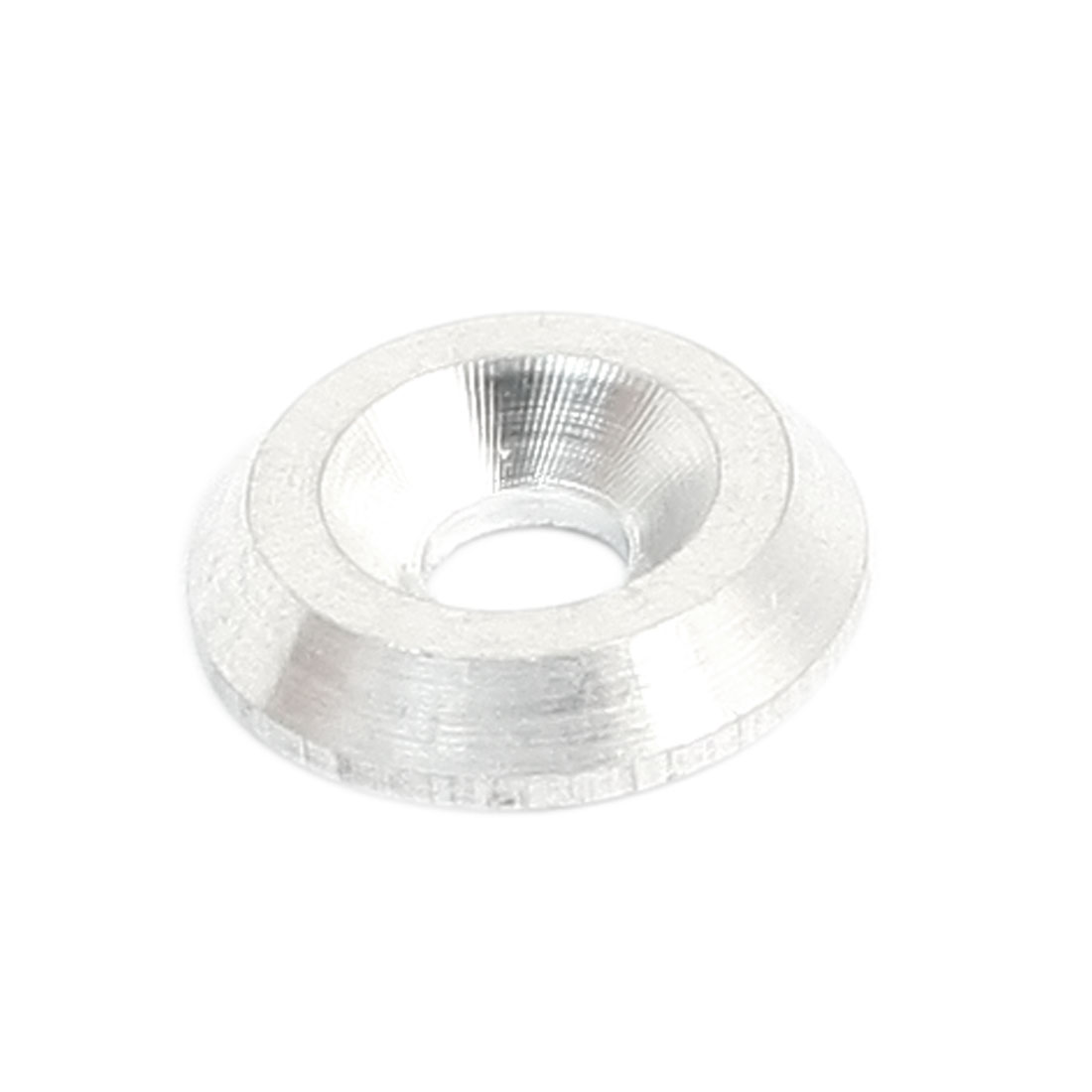 Silver Tone Aluminium Alloy Countersink Washer Spacer Adaptor 4mm x 14mm x 3mm for RC Model Toy