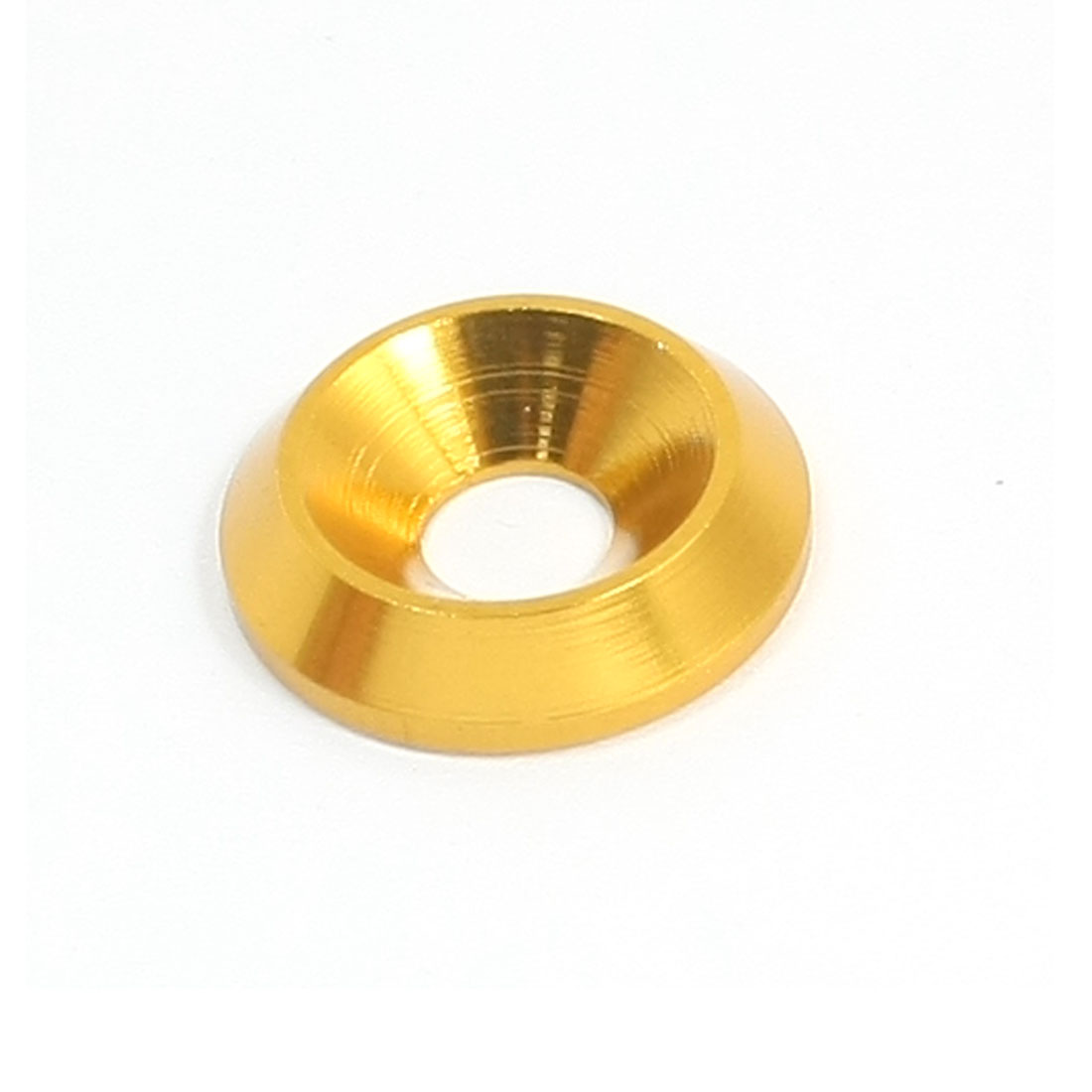 5mm x 16mm x 3.5mm Gold Tone Aluminium Alloy Spacer Washer for RC Model
