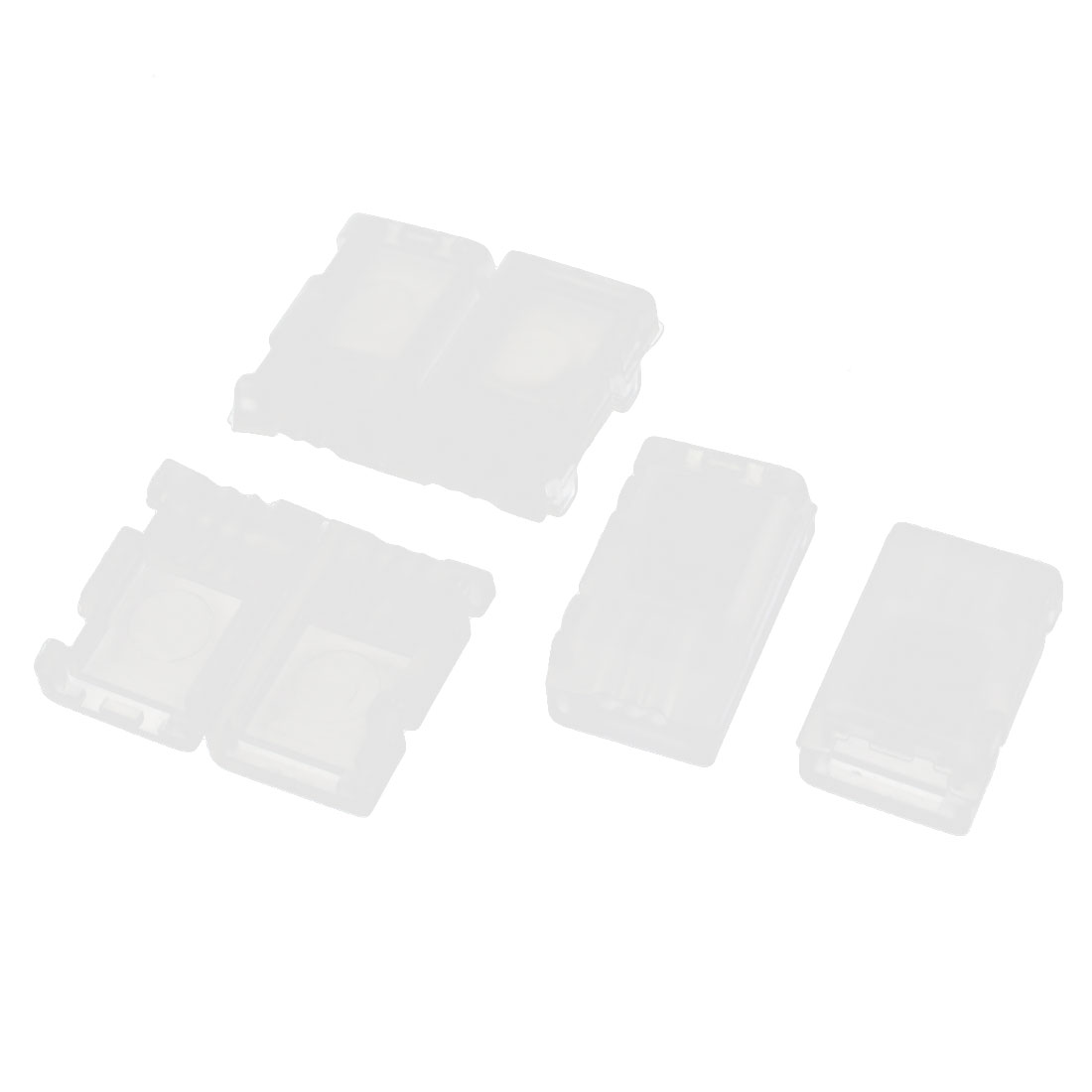 4Pcs White Plastic AB Clip Button Balance Protector Guard Cover for RC 7.4V 2S Lipo Battery
