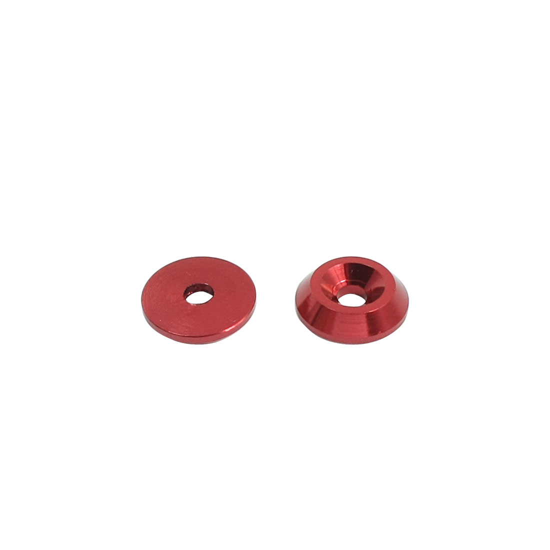 2 Pcs 12mm Outer Dia Red Aluminium Alloy Washer Spacer for 3mm Shaft RC Model Toy