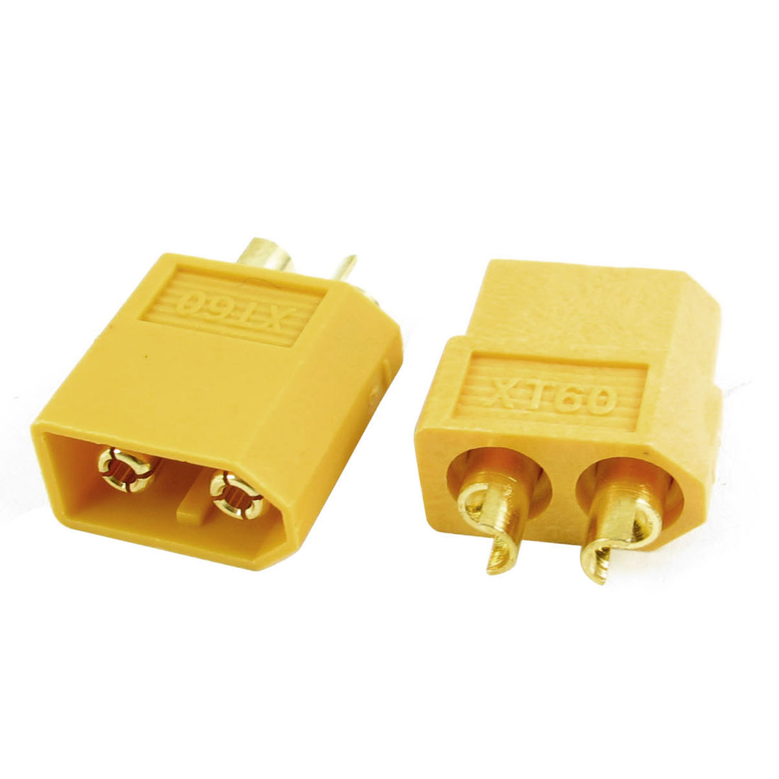 RC Model Part Male Female XT60 Plug Connector Adapter Yellow 4mm Pair