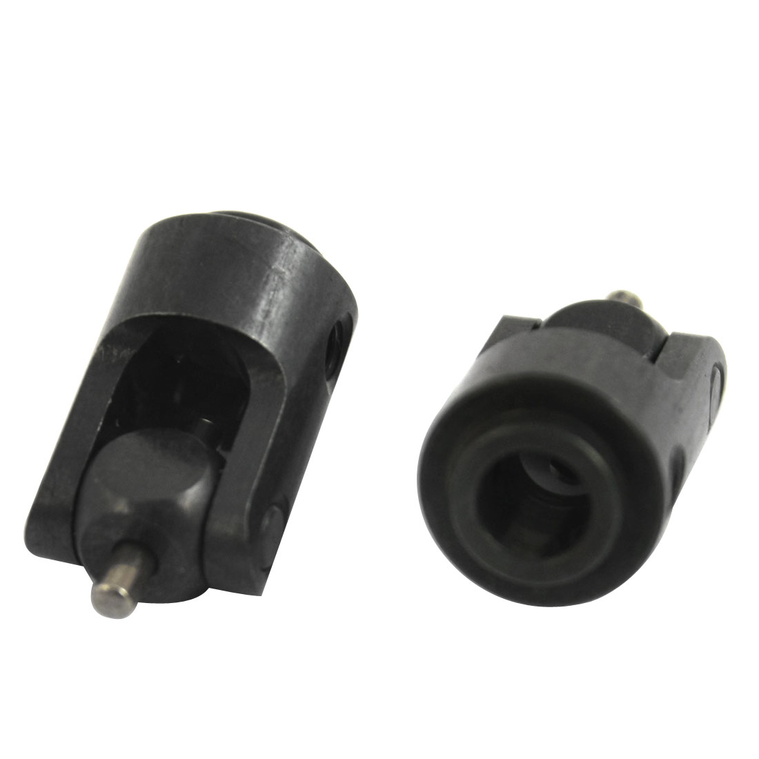 2Pcs 5mm x 11mm x 21mm Universal Black Metal Joint Coupling Adapter Connector for RC Model Boat Ship