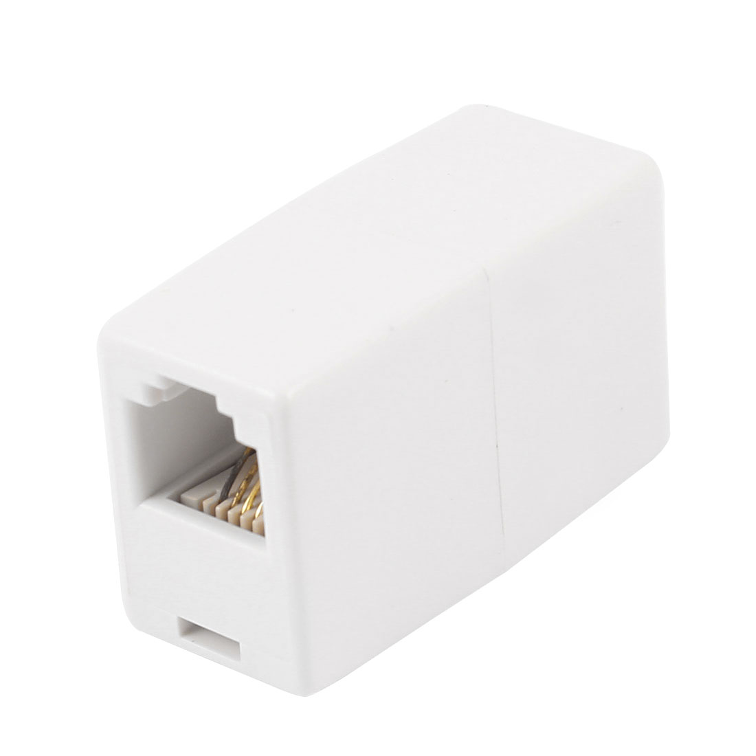 6P4C RJ11 to RJ11 Female/Female Telephone Cable Coupler Connector White