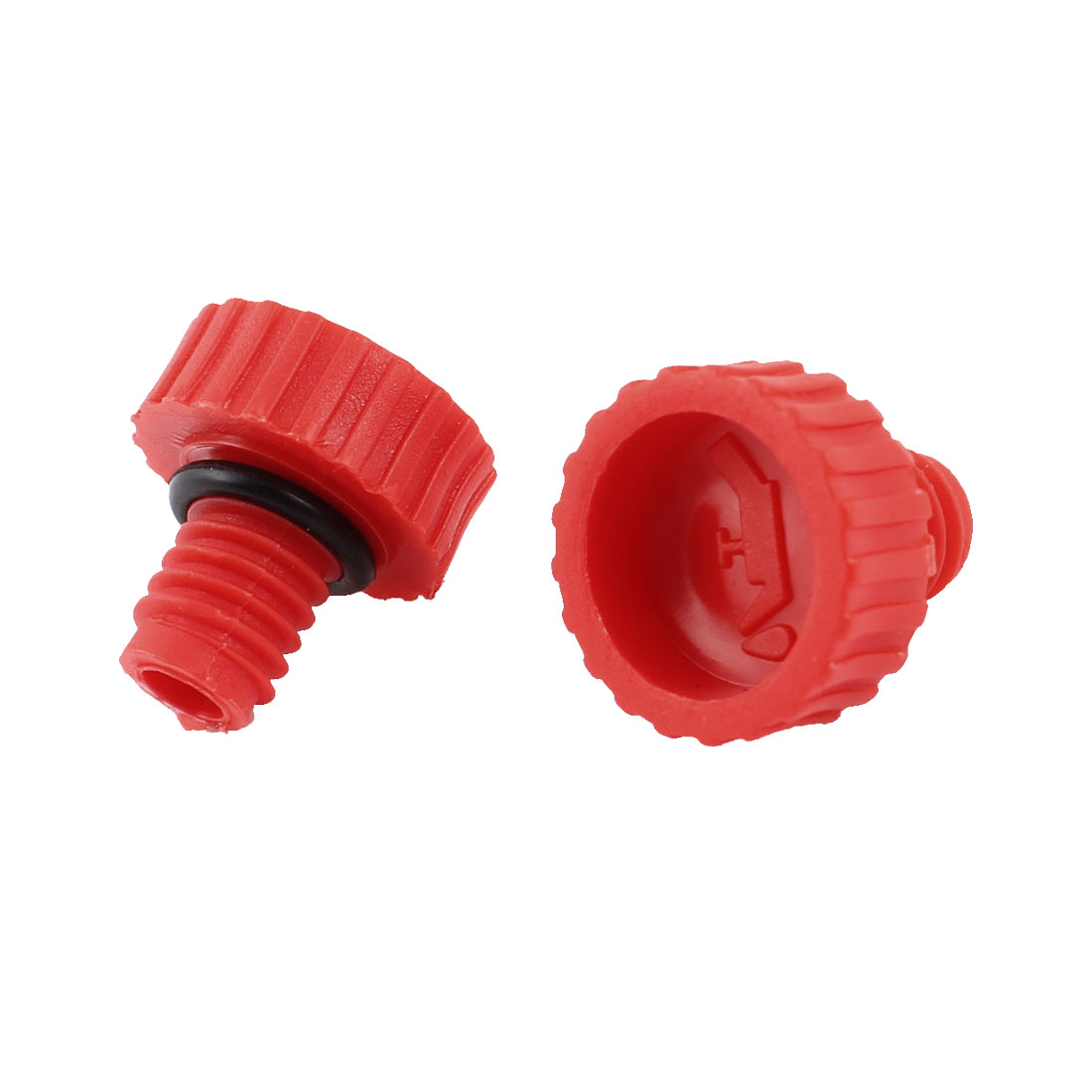 11mm Male Thread Nonslip Red Black Oil Cover for Air Compressor 2Pcs