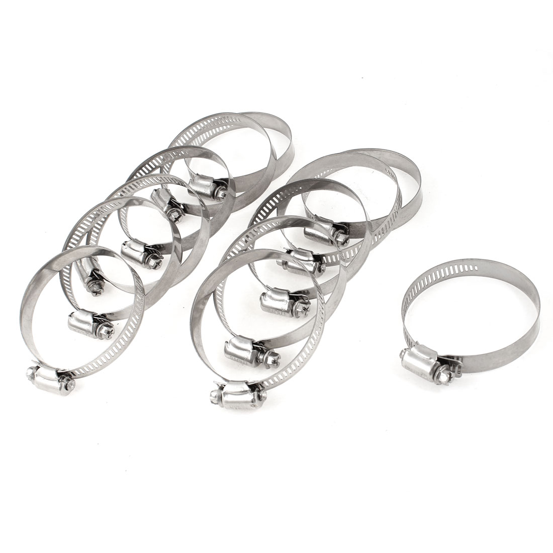12pcs Adjustable 44-67mm Range Worm Drive Hose Pipe Clamps Clips