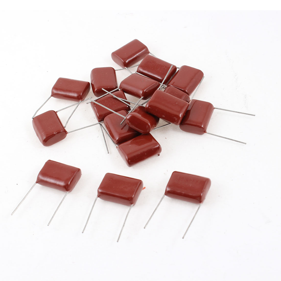 17 Pcs 2 Terminals Lead Mylar Polyester Film Capacitors AC220V DC 400V 1.2uF