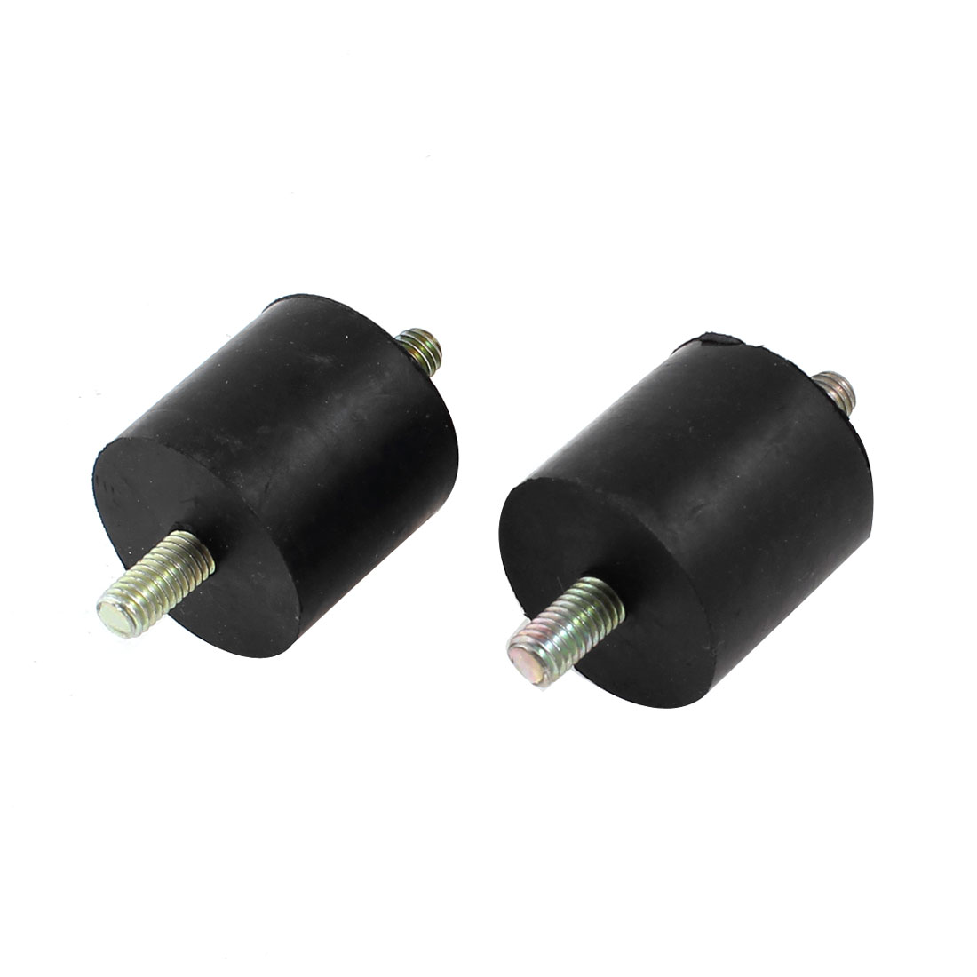 6mm x 12mm Double Male Thread Rubber Vibration Damper Isolator Mount 2 Pcs