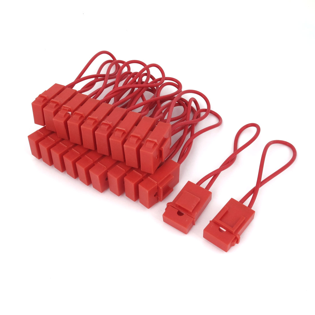 20 Pcs Car Red Plastic Shell Coated ATC Inline Fuse Holder Fuseholder