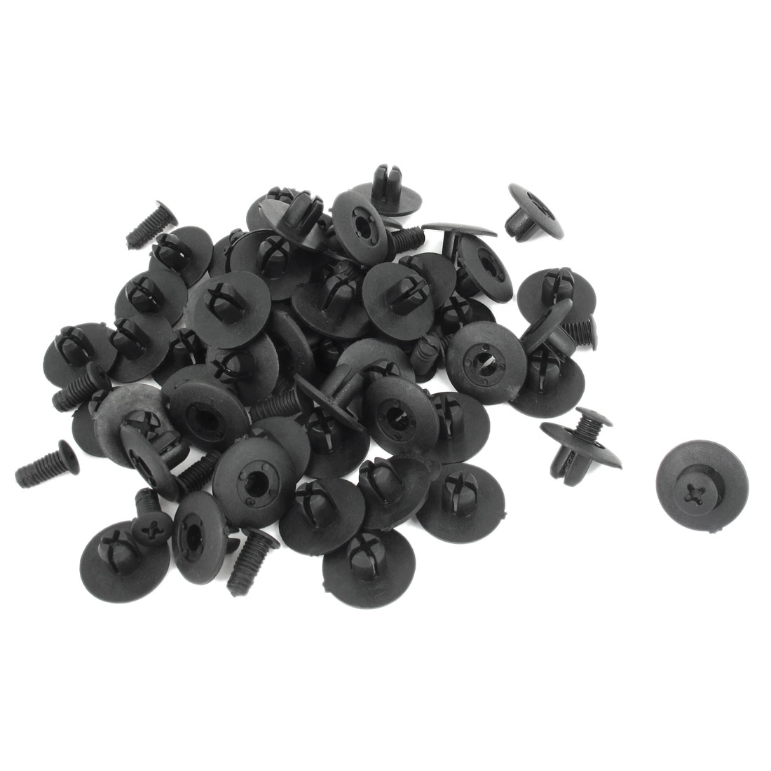 100 Pcs Black Plastic Rivet Car Door Trim Panel Retainer Clip 8mm Hole for Honda