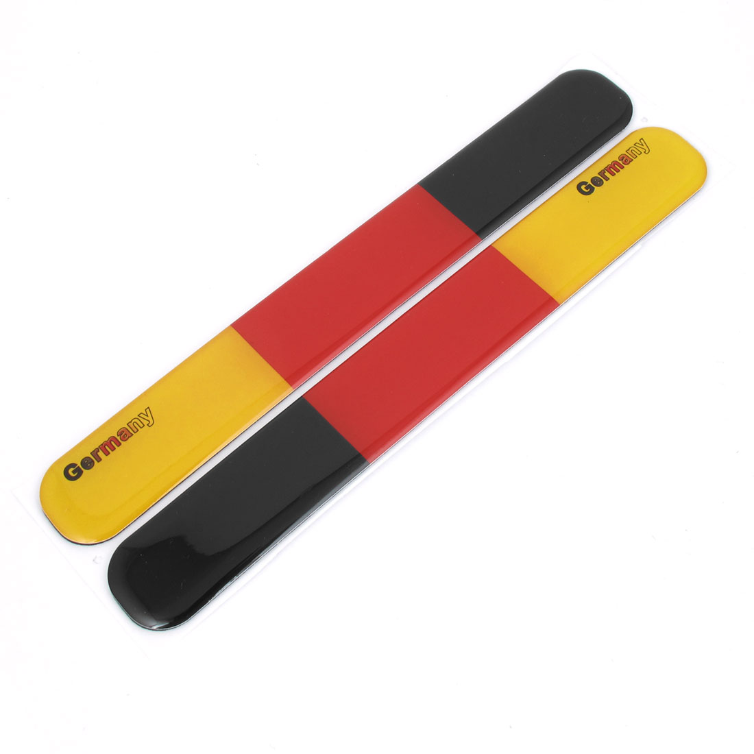 Pair German Flag Pattern Car Rearview Mirror Guard Sticker Protector Black Red Yellow