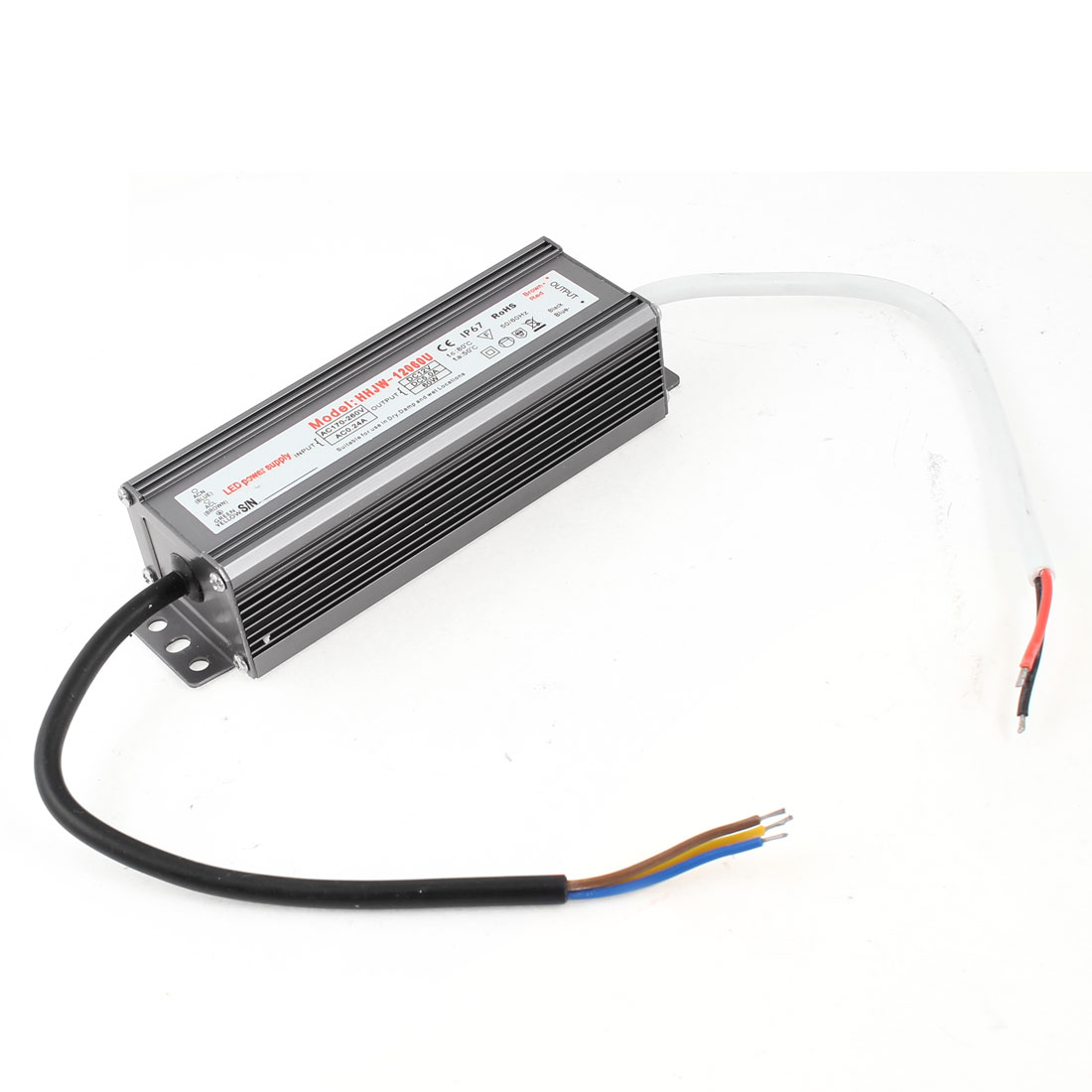 AC170-260V DC12V 5A 60W Waterproof Power Supply for LED Lighting