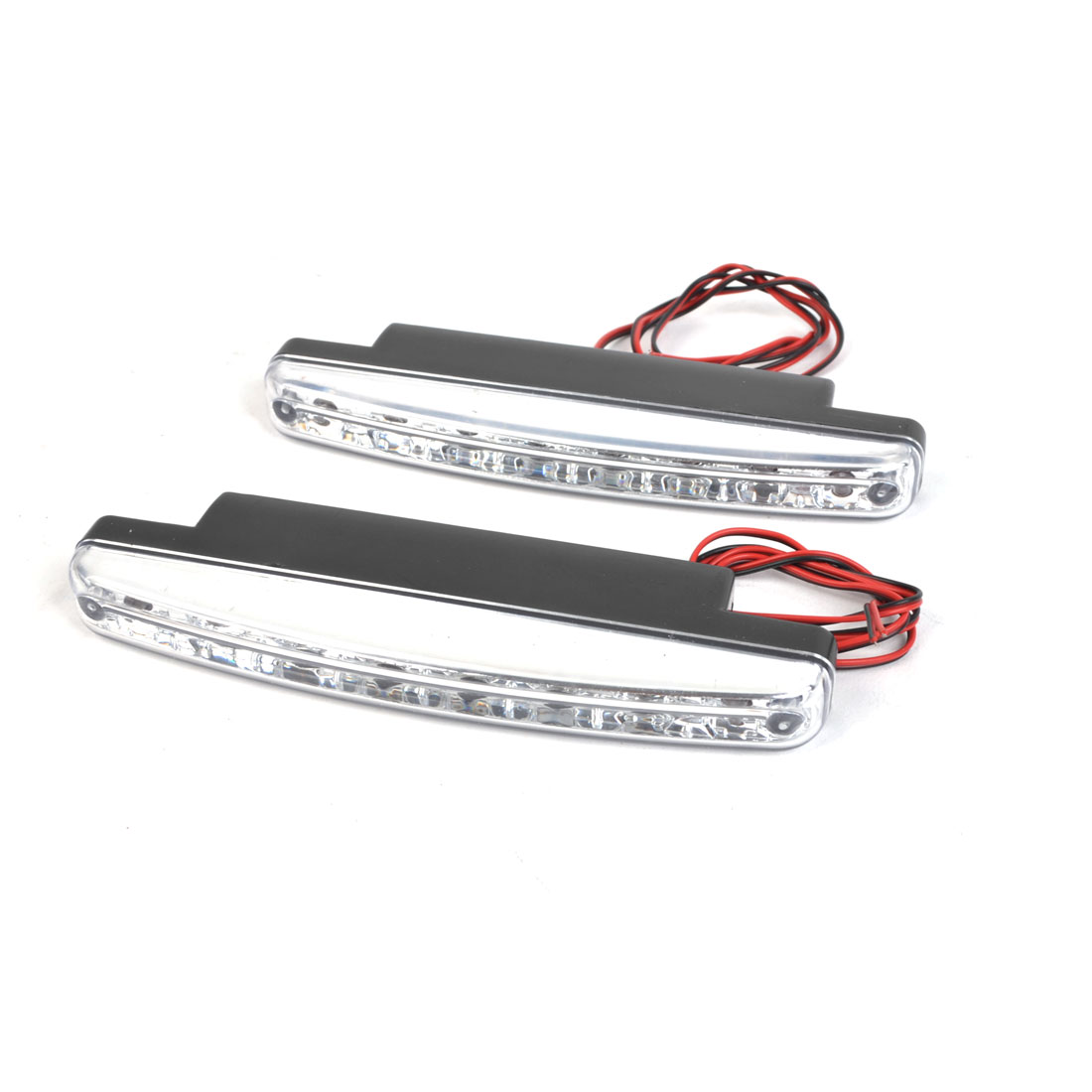 Vehicle Car 8 LED White DRL Daytime Running Light Driving Lamp 12V 2 Pcs