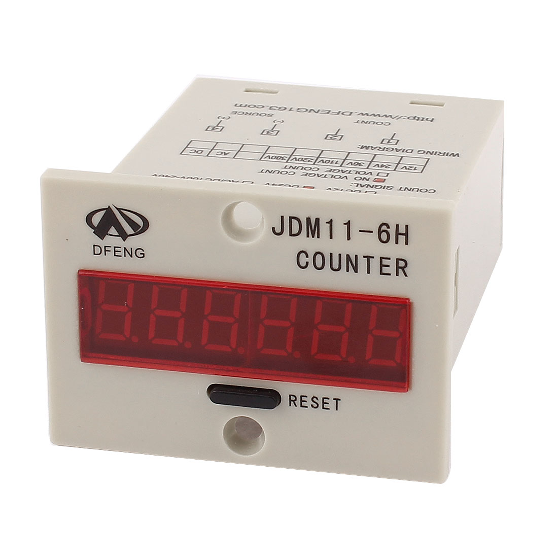 JDM11-6H Reset Panel Mode 6-Digit LED Display Digital Counter DC 24V
