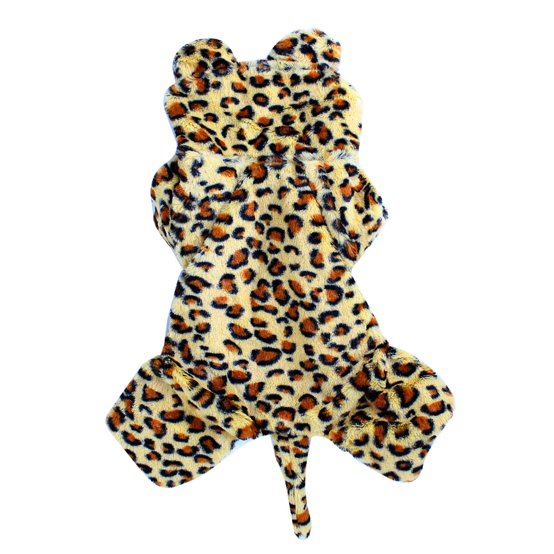 Winter Single Breasted Leopard Pattern Pet Dog Puppy Sleeved Hooded Apparel Coat Clothes XXS