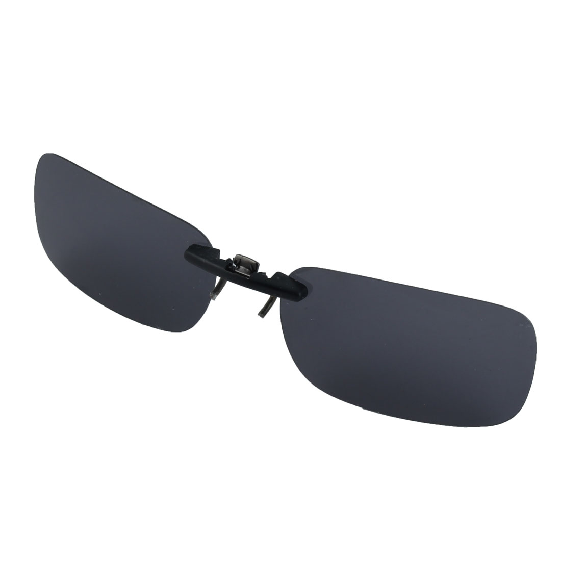 Plastic Rimless Black Lens Clip on Polarized Glasses Sunglasses