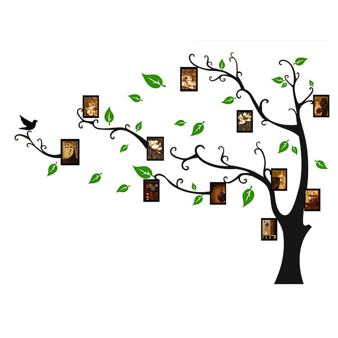 Wall Decor Self Adhesive Back Leaf Tree Photo Frame Wall Stickers Vinyl Art