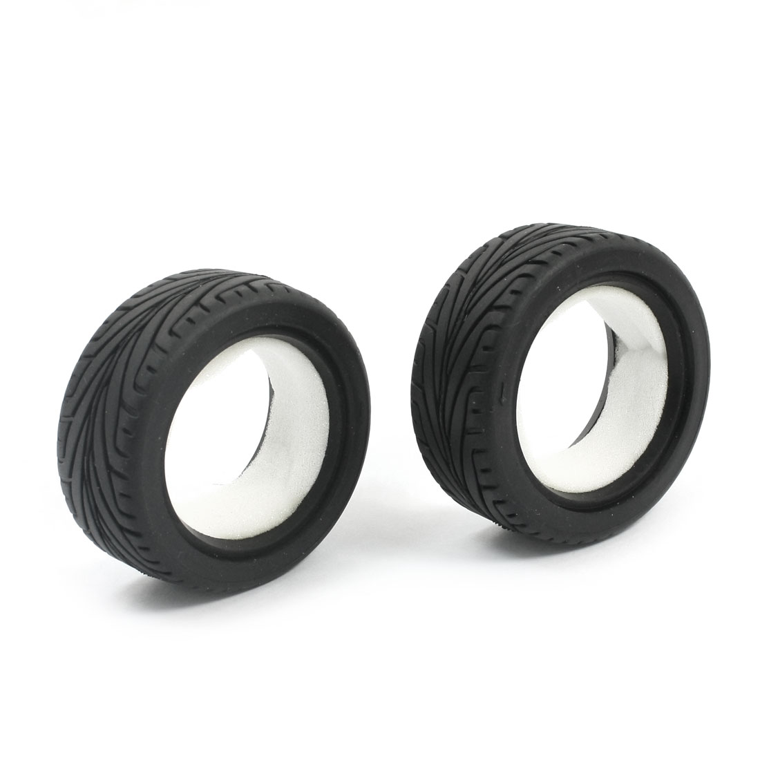 2pcs Rubber 65mm Wheel Tire for RC Model 1:10 Flat Racing Car Vehicle
