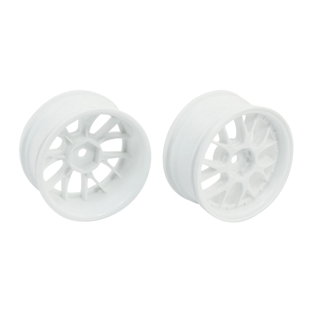 2pcs White 3mm Shaft 52mm Wheel Tire for RC Model 1:10 Flat Racing Car Vehicle