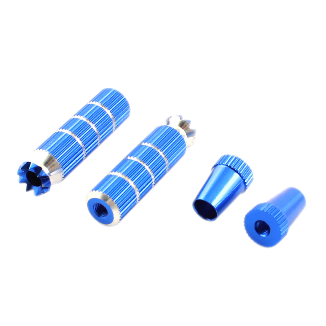 Pair Blue Aluminum Spektrum Gimbal Stick Ends 40mm for RC Model