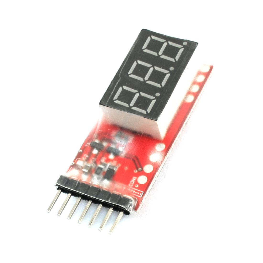 LED Display 7.4V-22.2V 2S-6S Cells Lipo Battery Voltage Monitor Meter
