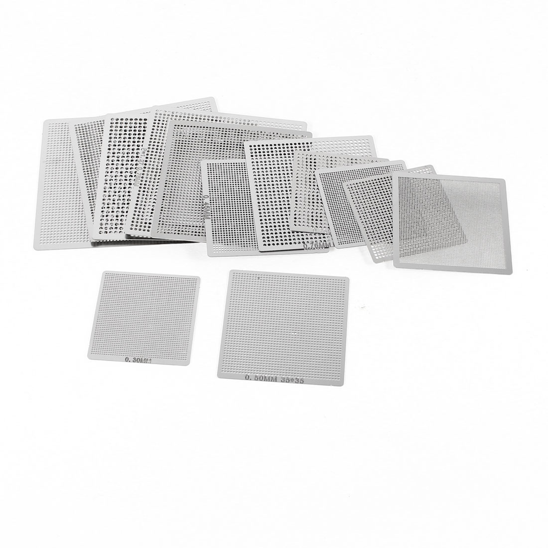 18Pcs GBA Arrangement Stencils Template for XBox 360 GPU CPU RAM Reball