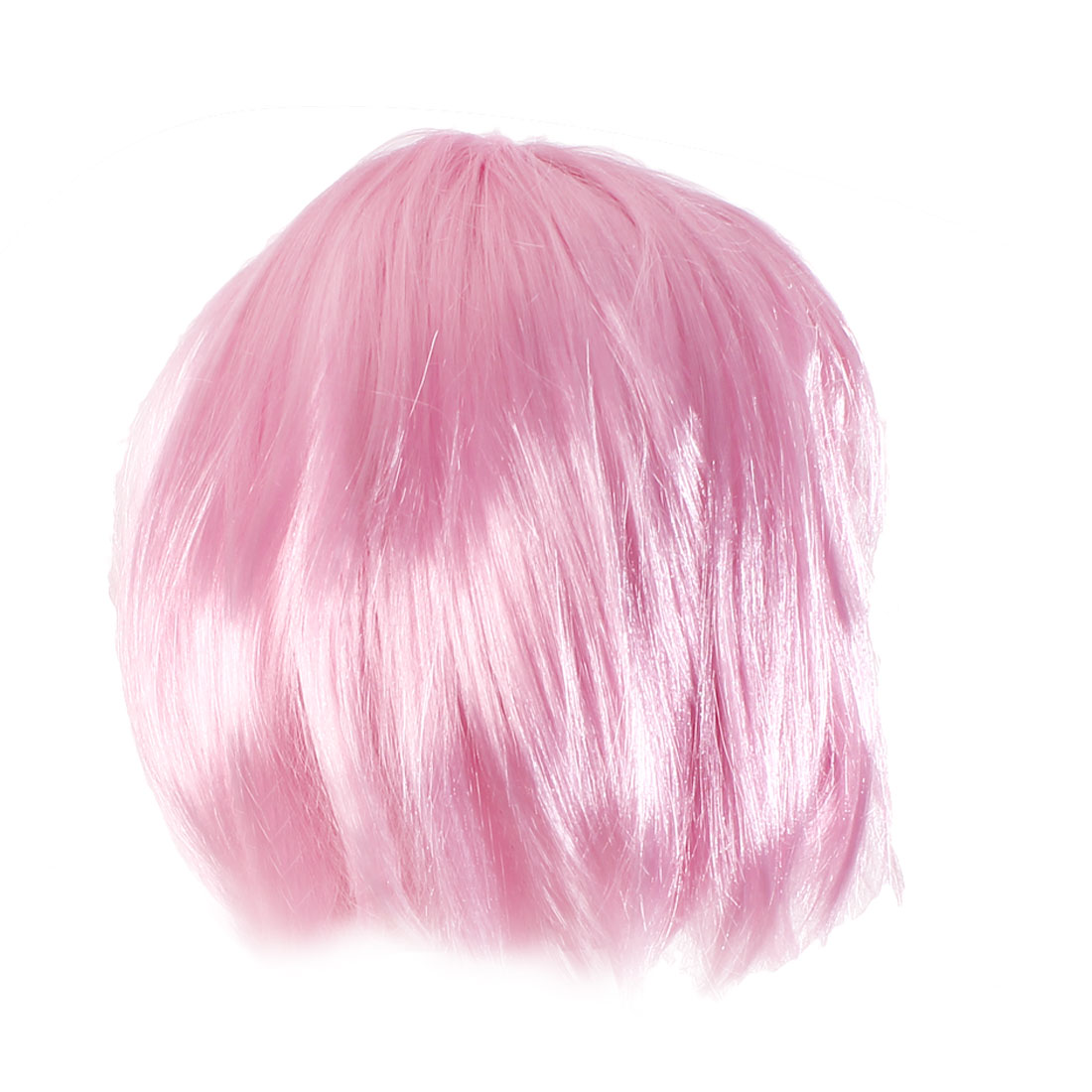 Woman Pink bobo Style Short Straight Synthetic Hair Wig 25cm Long