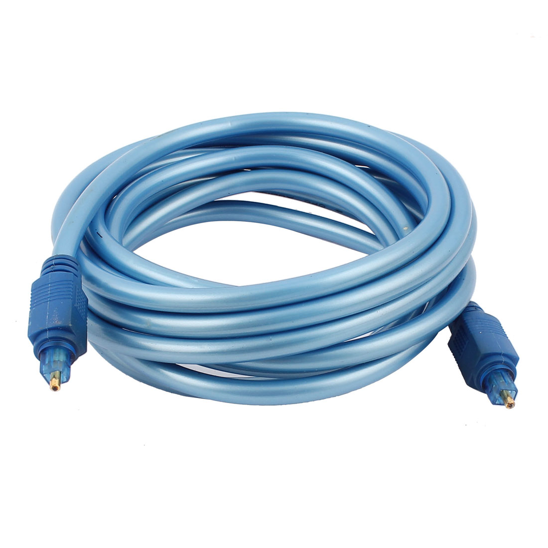 10Ft 3 Meters Male to Male Digital Audio Optical Fiber Cable Cord Lead Blue